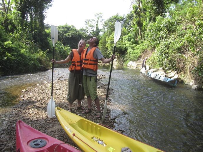 before kayaking semadang sarawak