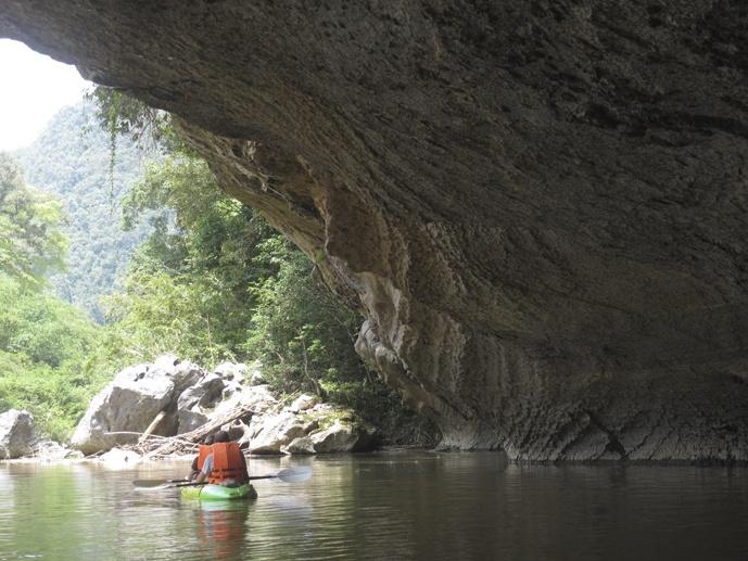 caving kayaking borneo