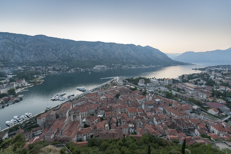 kotor old town from fortress montenegro