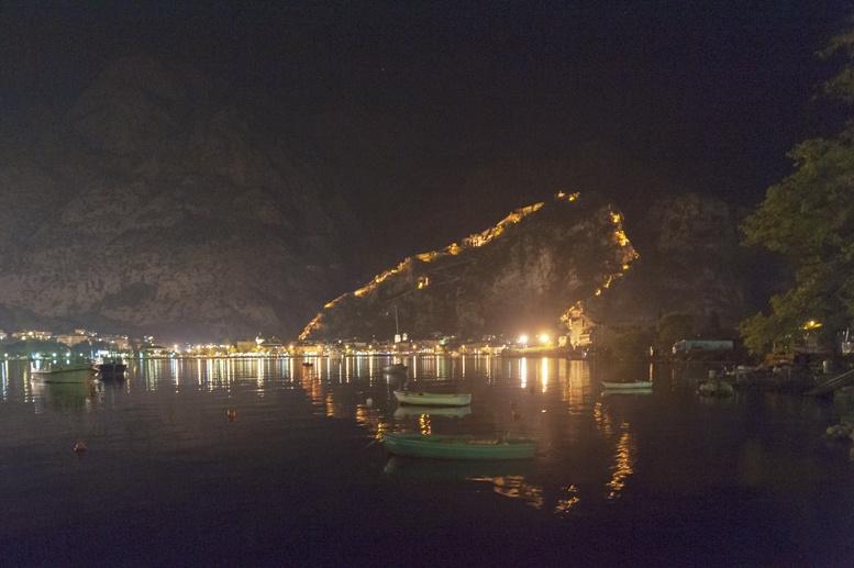kotor montenegro night view