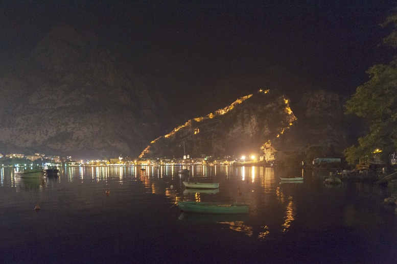 kotor montenegro night view