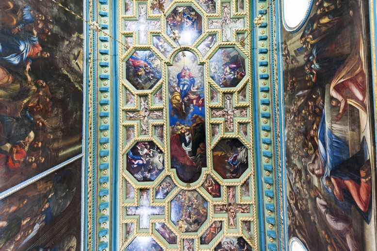 our lady of the rocks ceiling montenegro