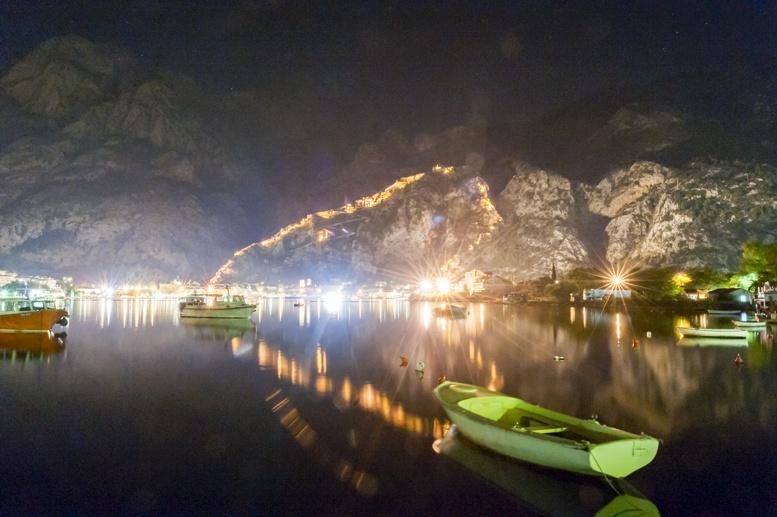 pictures of kotor montenegro night