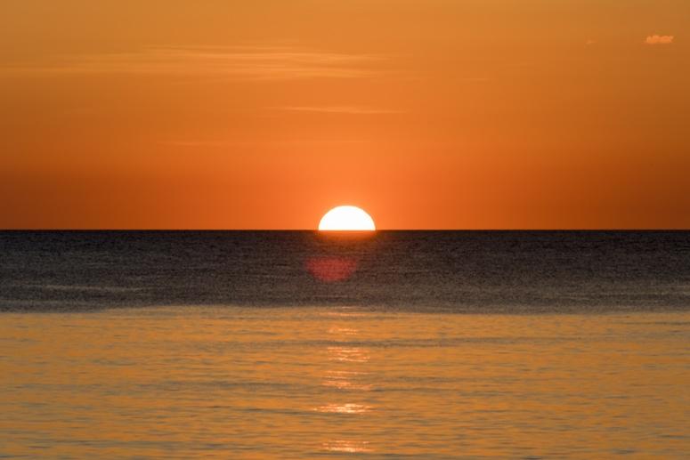 orange sunset ocean