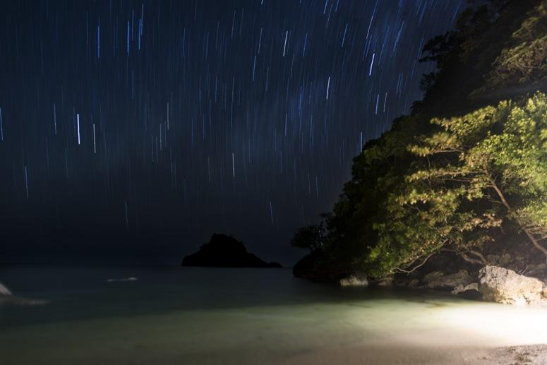 beach night danjugan island philippines