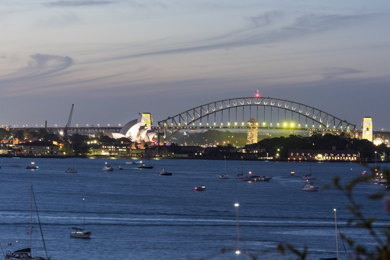 history of Australia sydney harbour bridge night