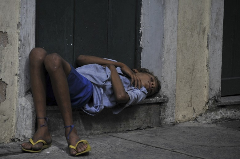 salvador bahia brazil kid sleeping