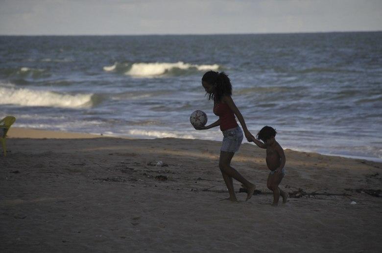 maceio brazil boy girl on beach