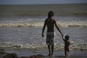 salvador bahia father son beach