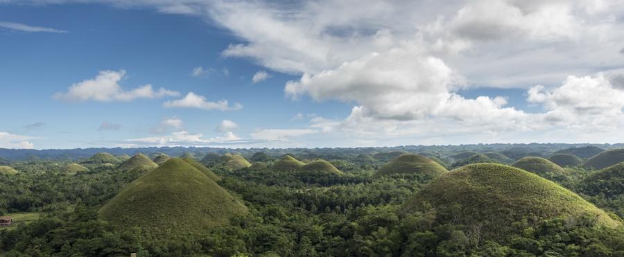 philippines bohol chocolate hills landscape