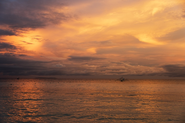 Bohol Beach club sunset 1