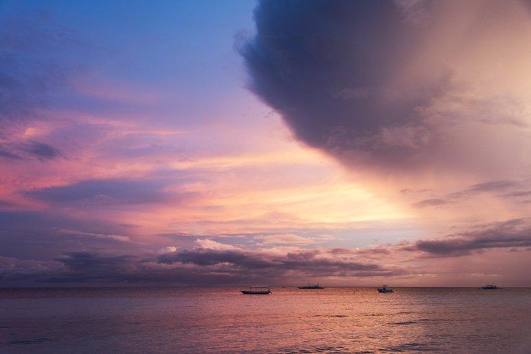 Bohol Beach club sunset 2