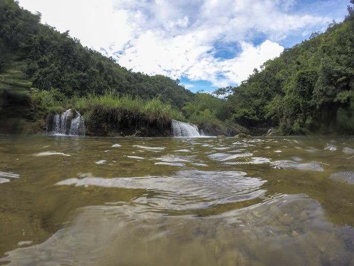 paddleboarding bohol loboc waterfall