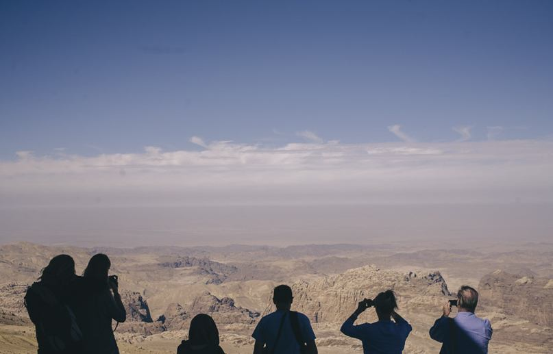 jordan tourists desert