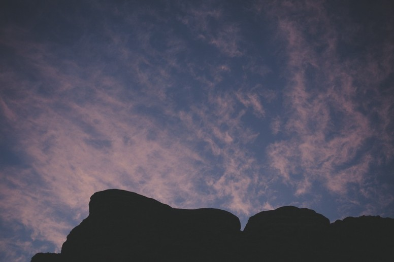 jordan wadi rum rocks sunset