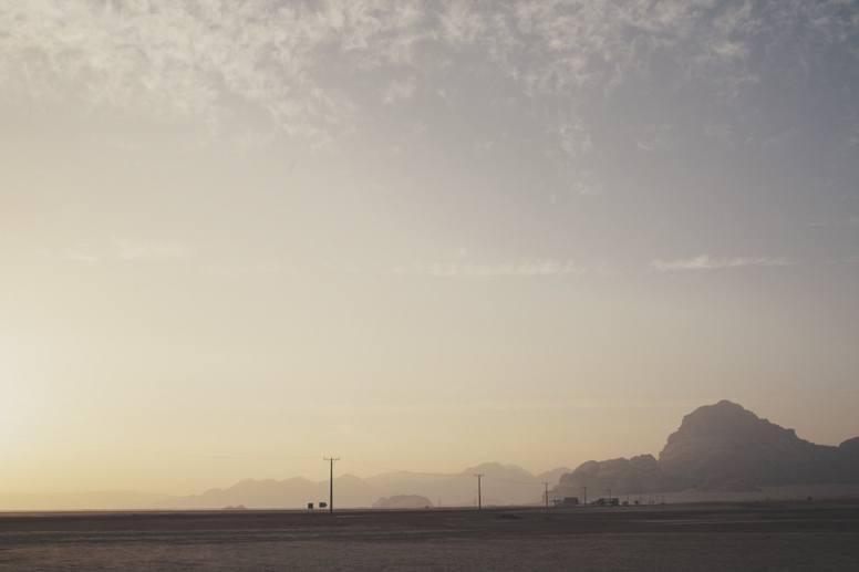 jordan wadi rum desert sunrise