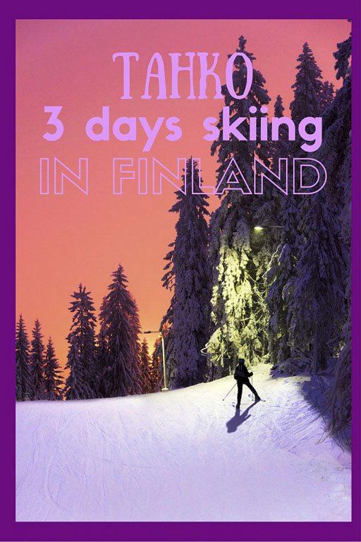 finland skiing pin