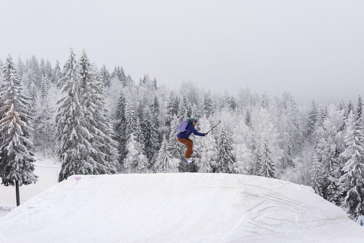 snowboarding jump finland tahko