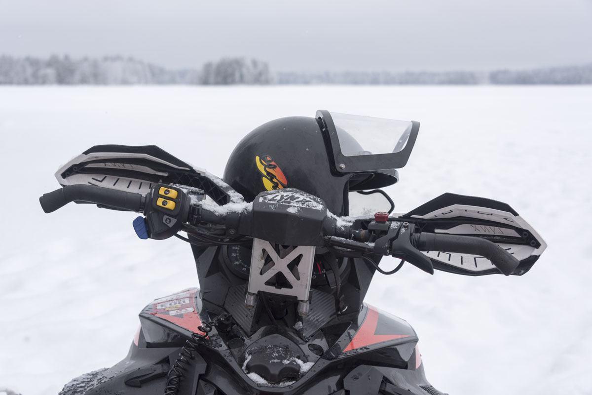 snowmobile finland handlebars helmet