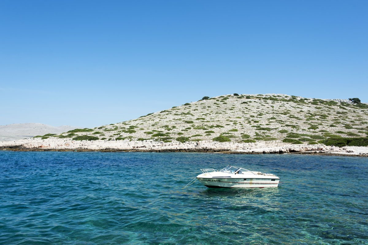 kornati islands croatia blue sea