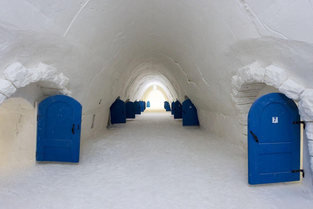 snow hotel kemi corridor