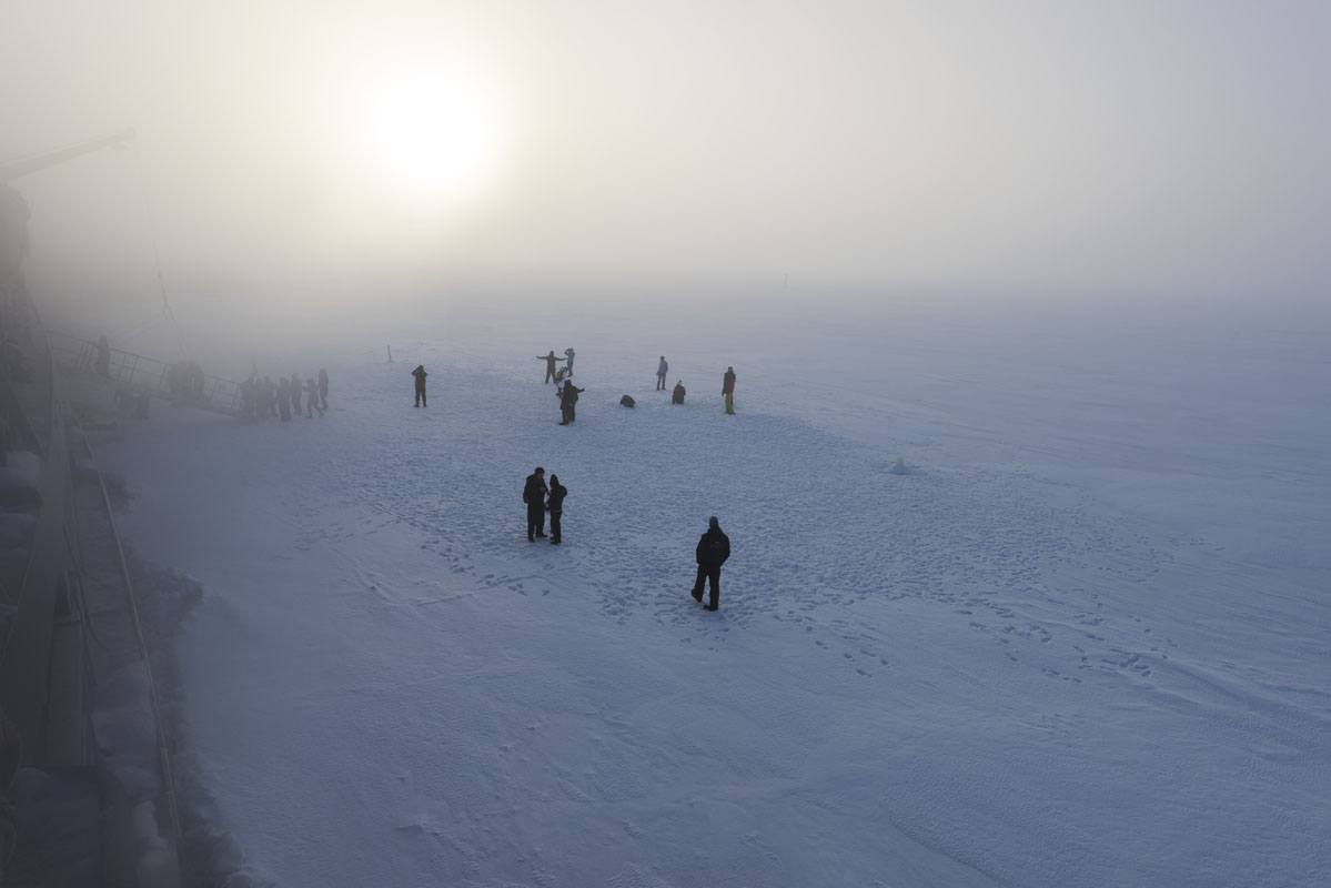 sampo icebreaker people on ice