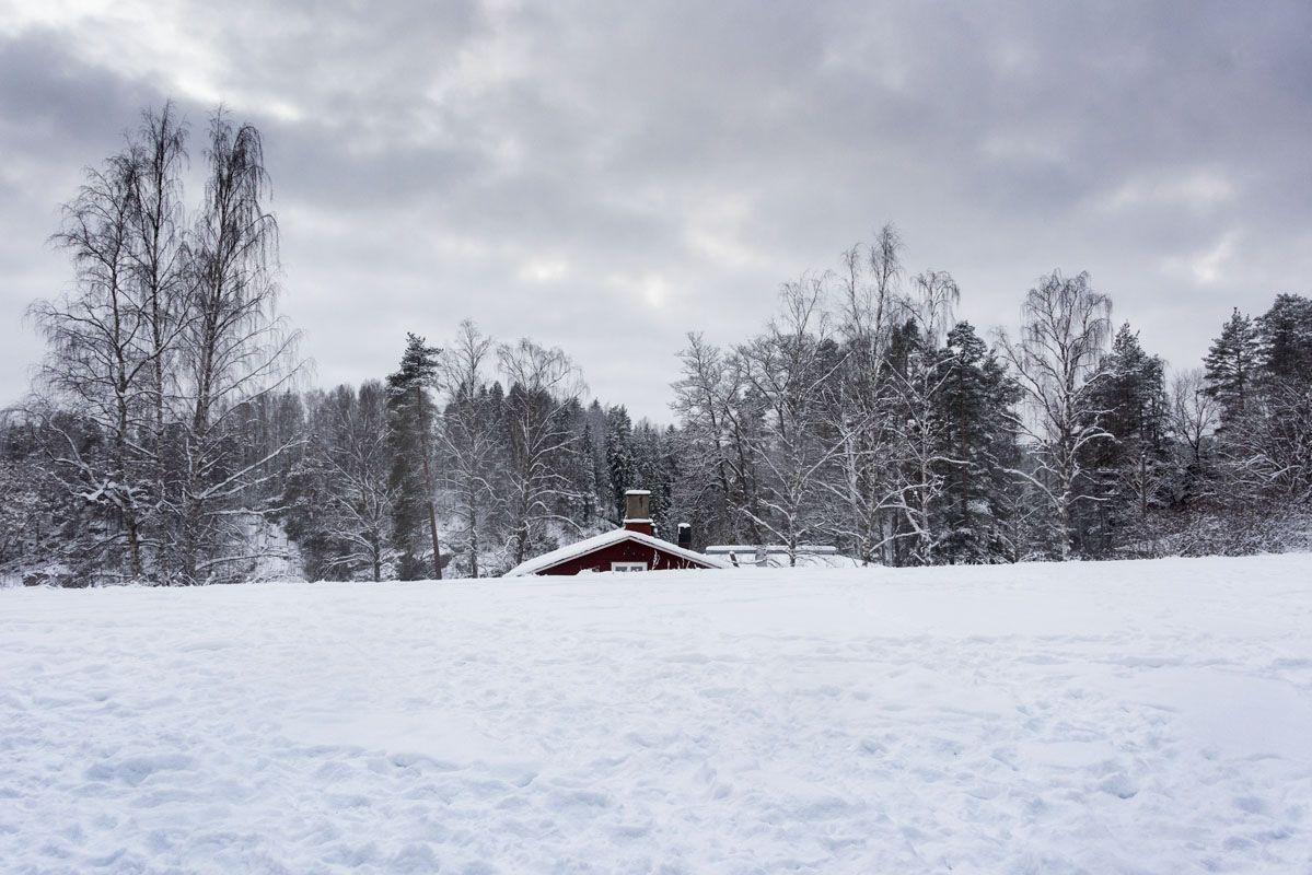 haltia espoo snowy house