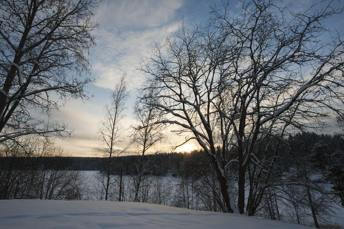 haltia sunset winter
