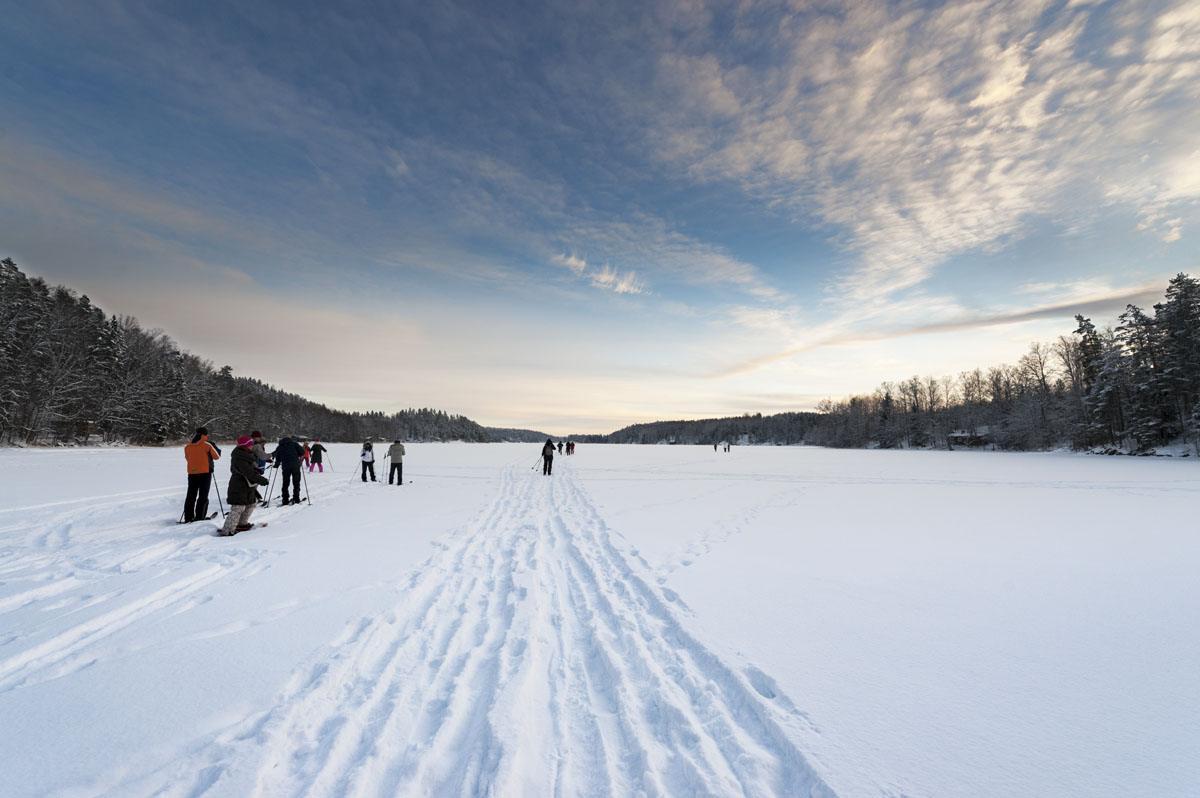 haltia nuuksio national park skiing