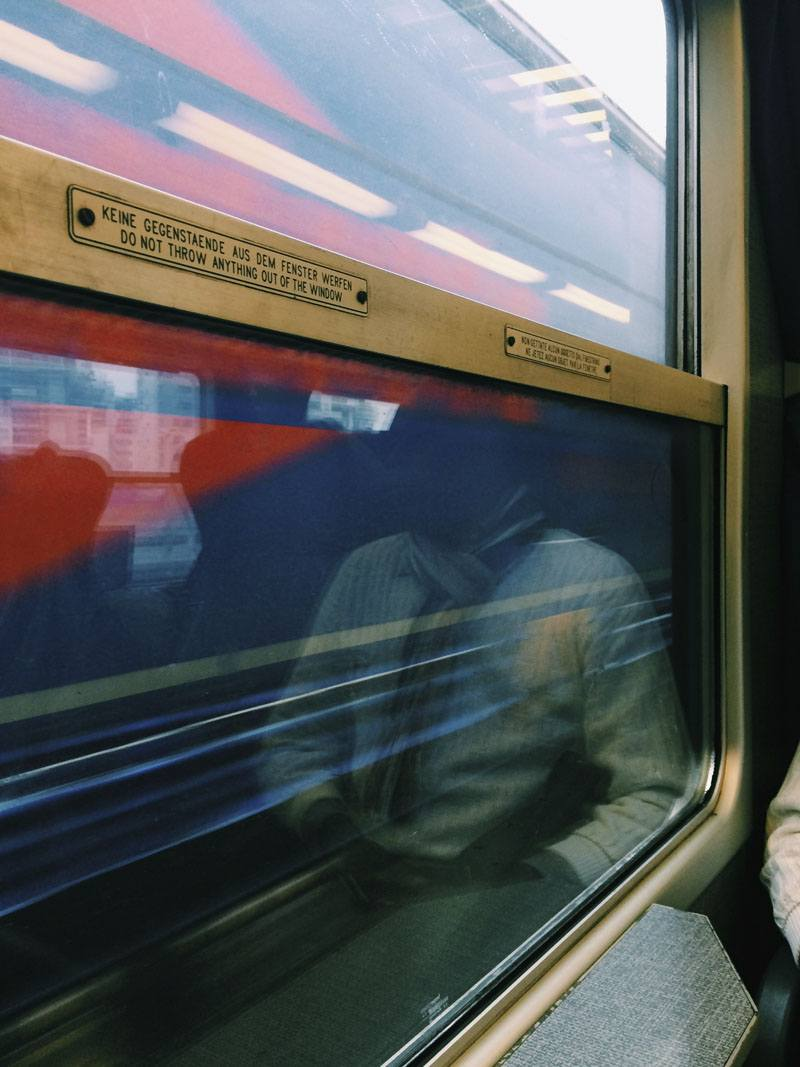 train window reflection