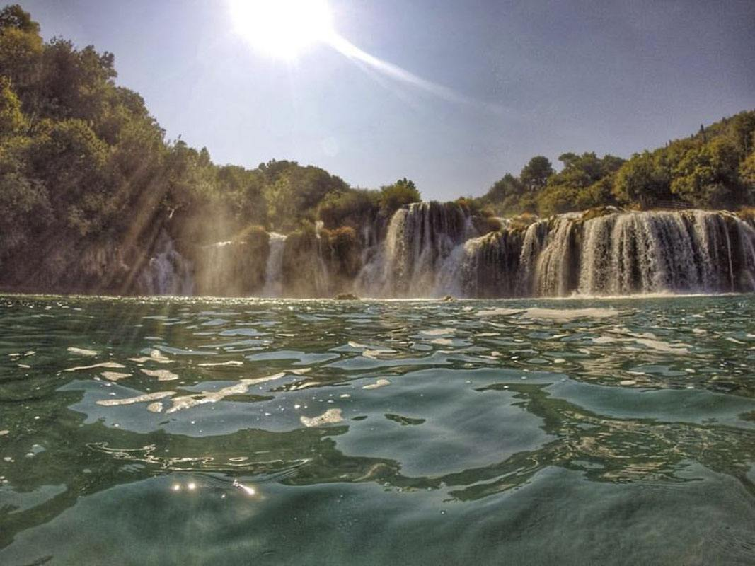 Skradinski Buk from the water krka croatia