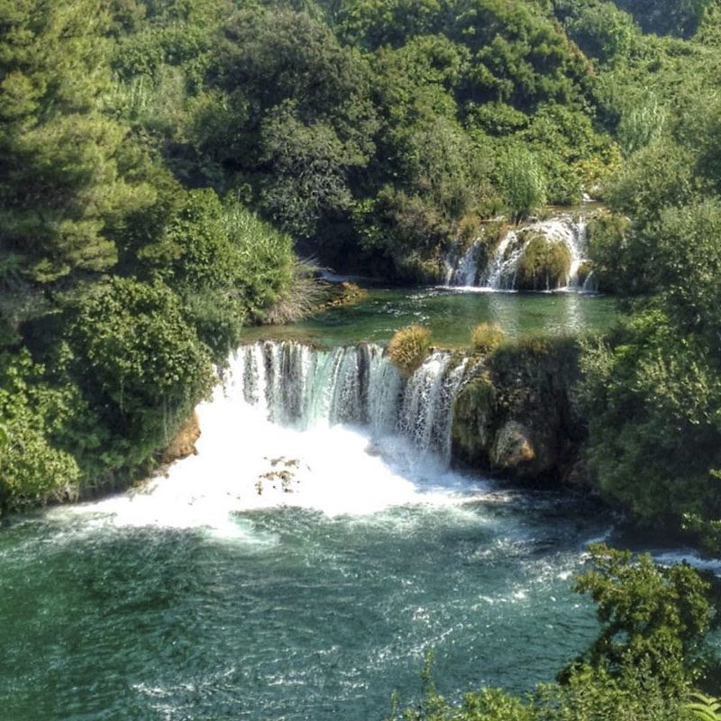 The waterfall from above krka croatia