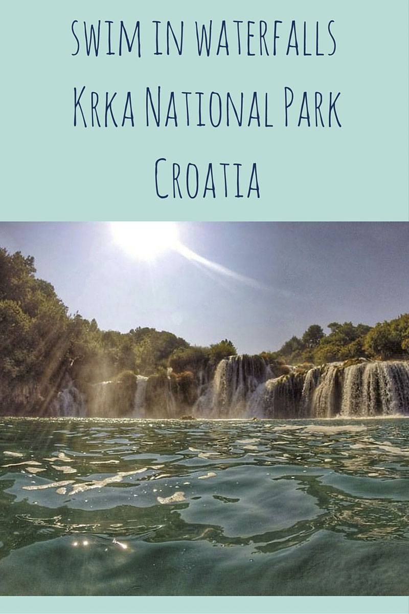 krka croatia national park pin