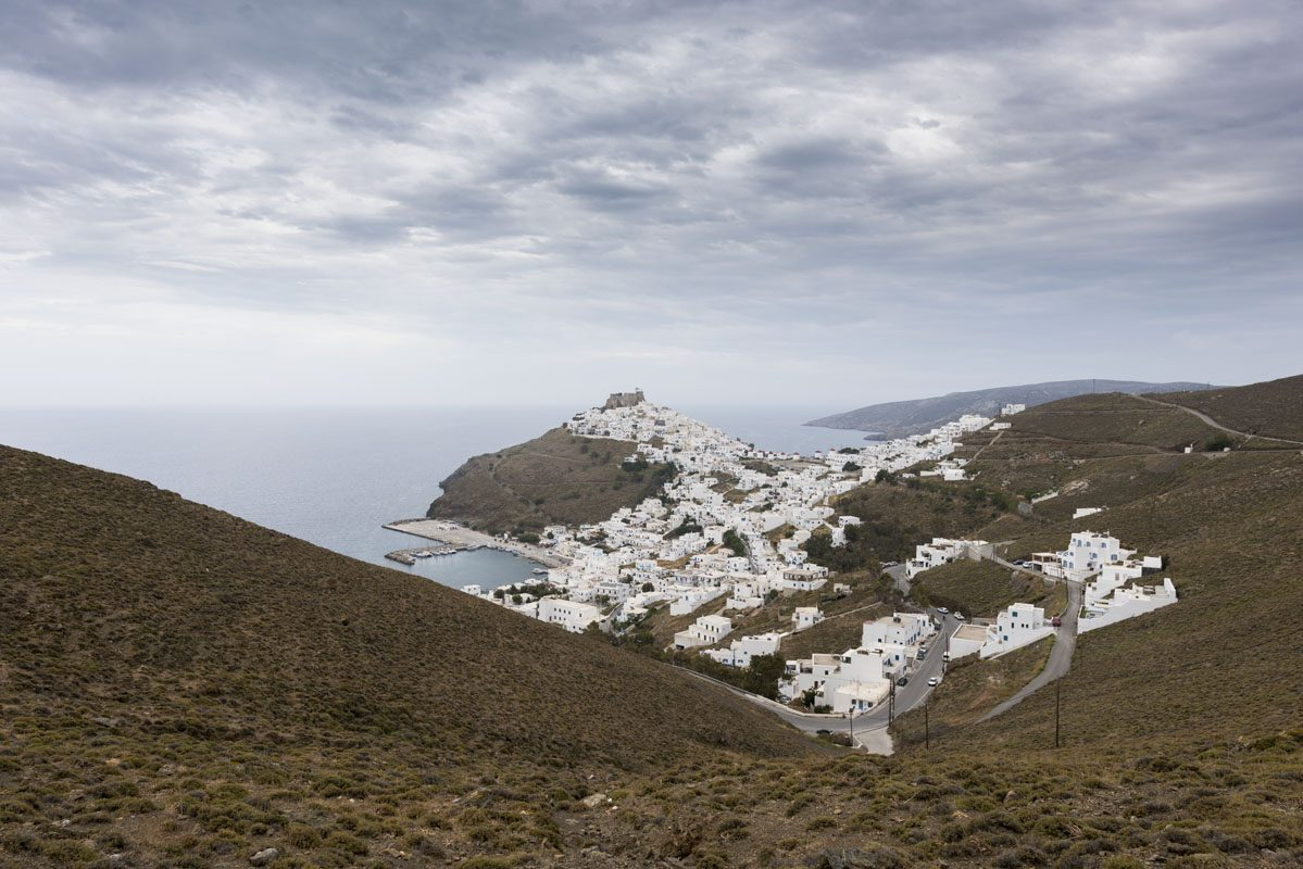 astypalea chora from mountains