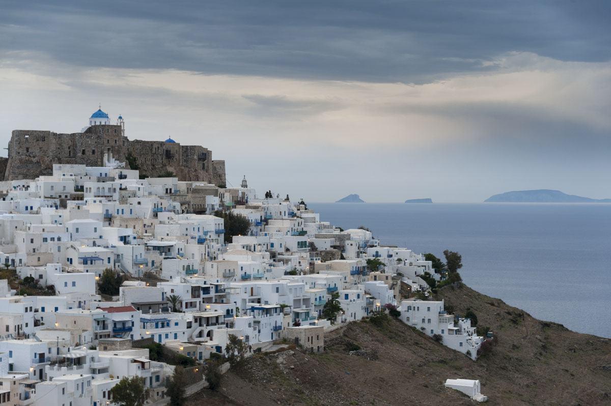 astypalea greek islands blue hour