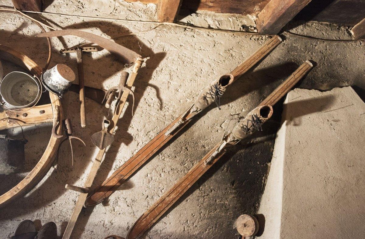 gerola alta old wood skis