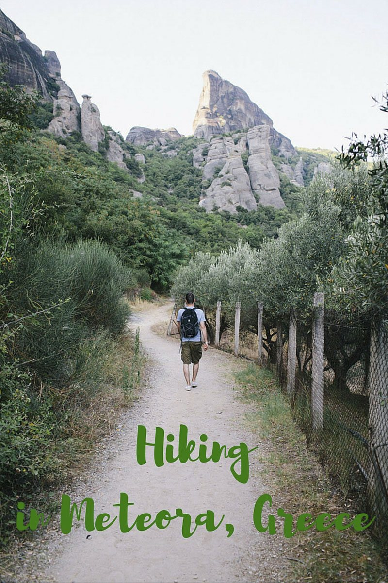 hiking in meteora pin