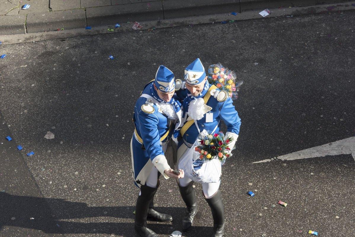 Cologne Carnival rose monday selfie