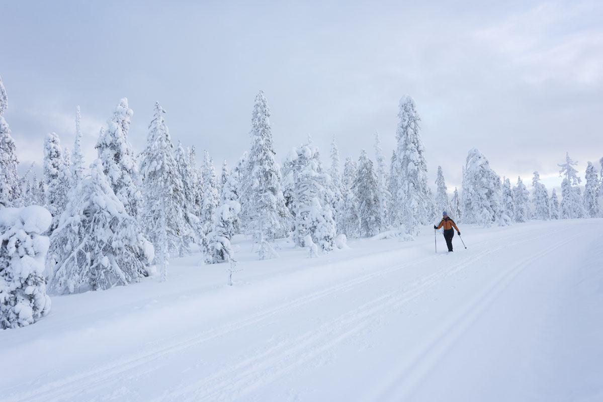 Finland Salla skiing snow