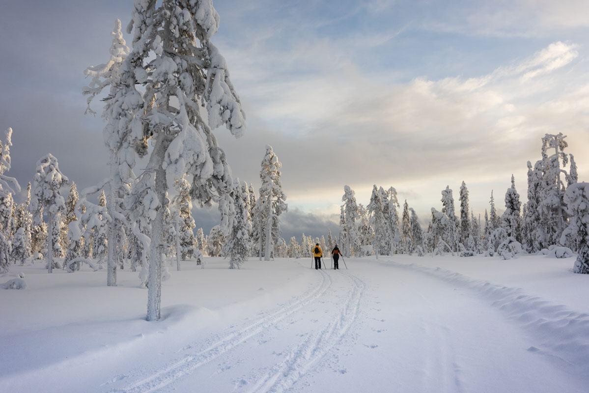 salla x country ski finland
