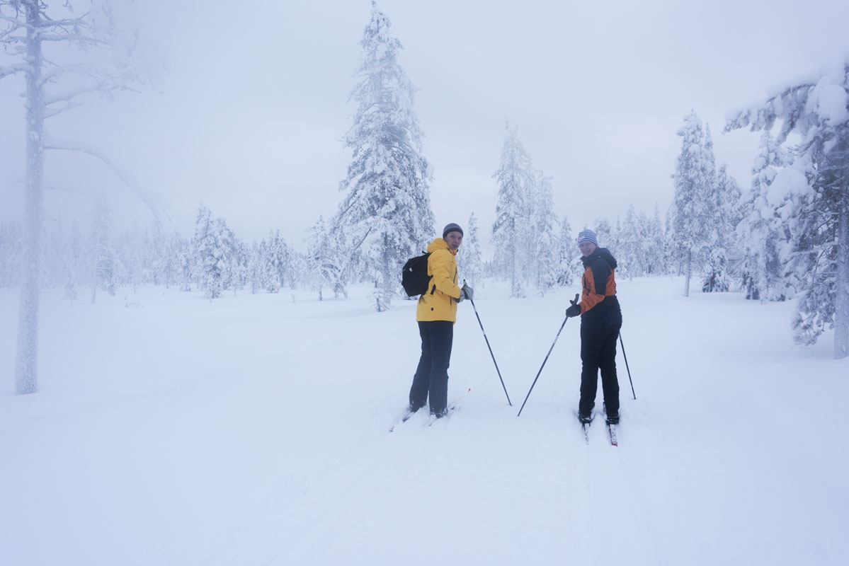 finland skiers snowstorm
