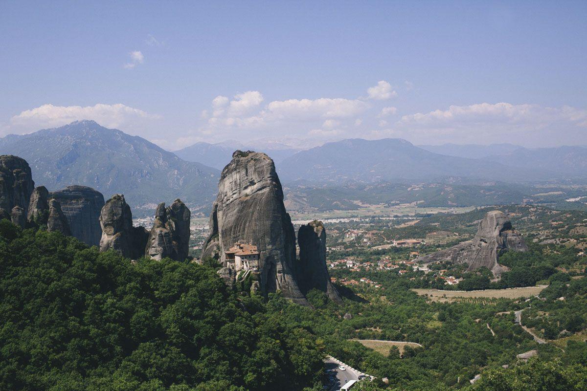 meteora monasteries view