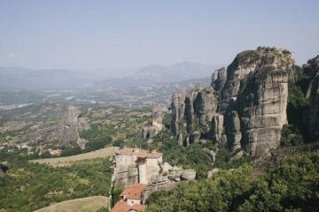 meteora monasteries from top