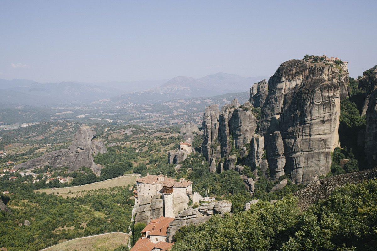 meteora monasteries from top