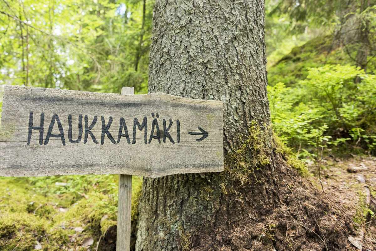 hawkhill nature sign