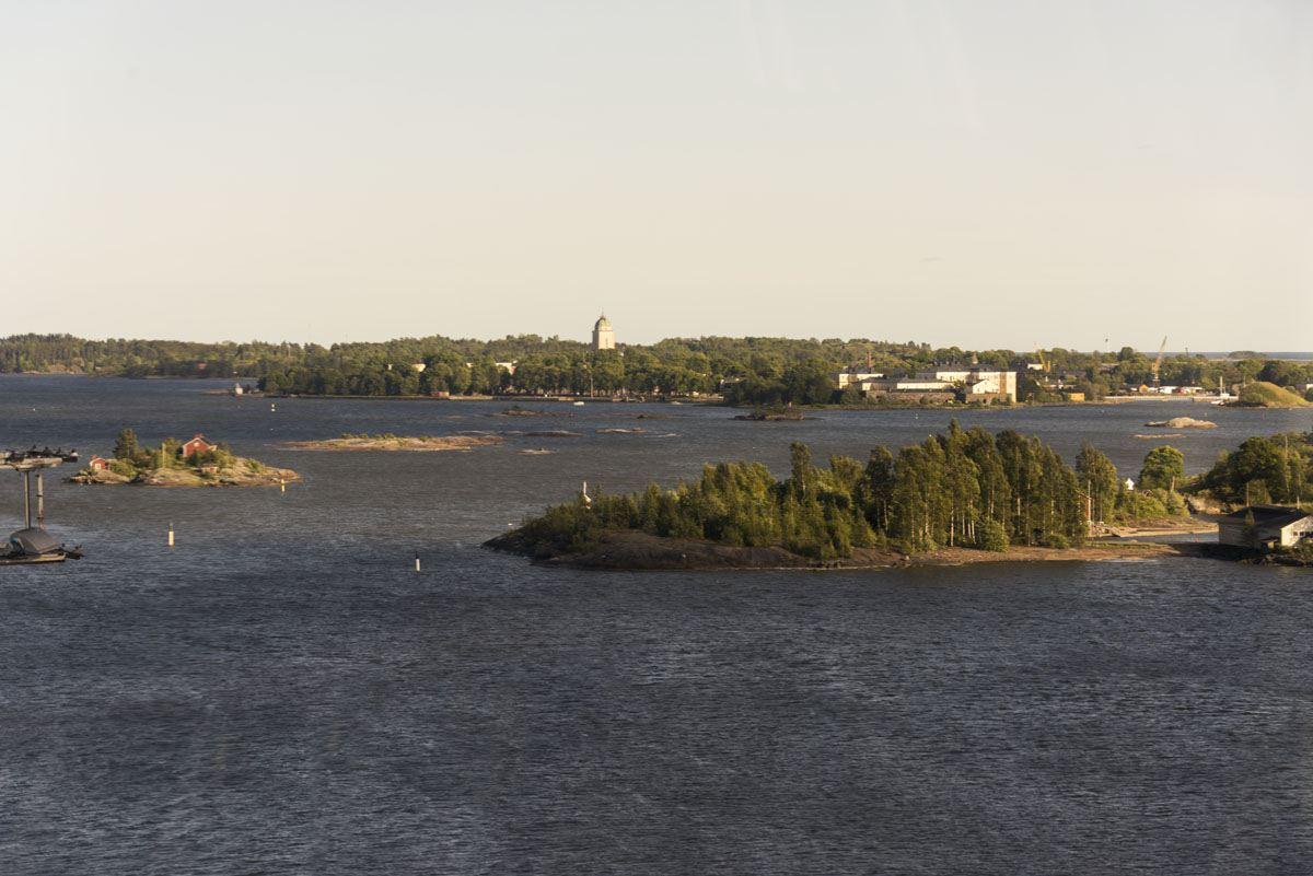 helsinki islands sunset