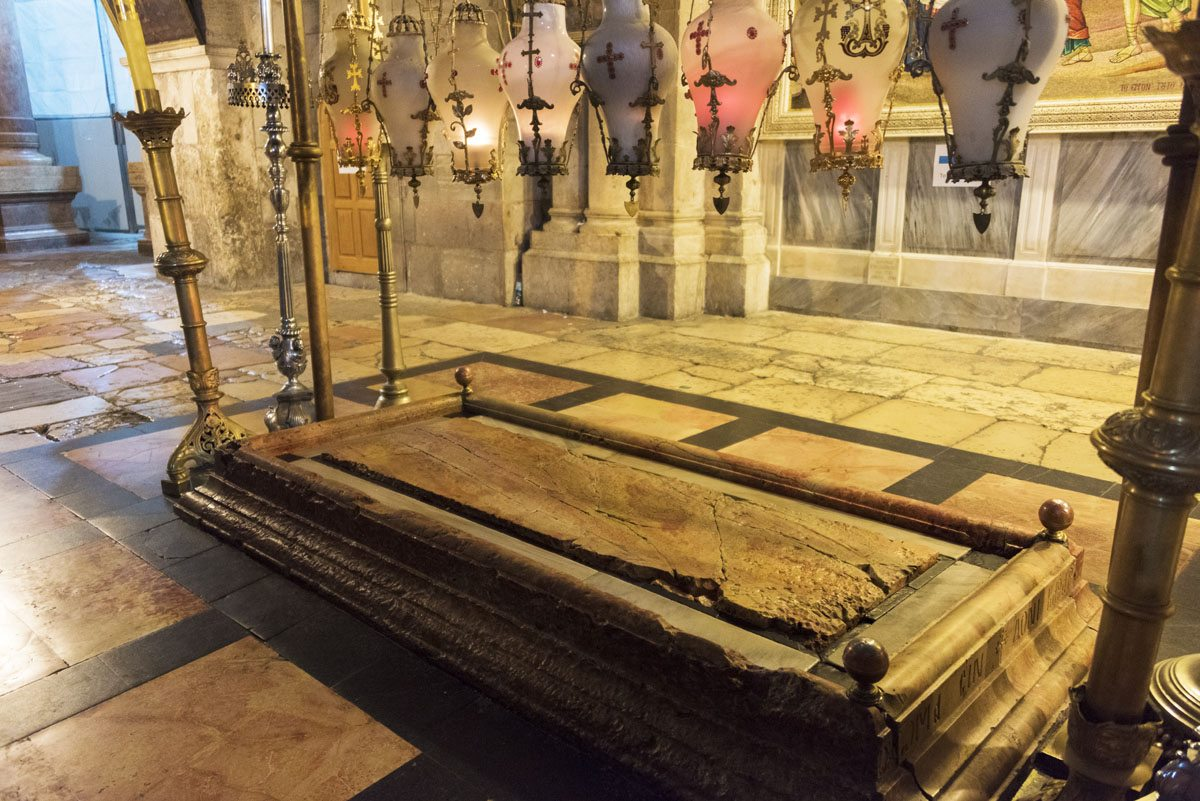 church holy sepulchre anointing stone