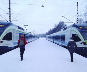 europe train travel in winter