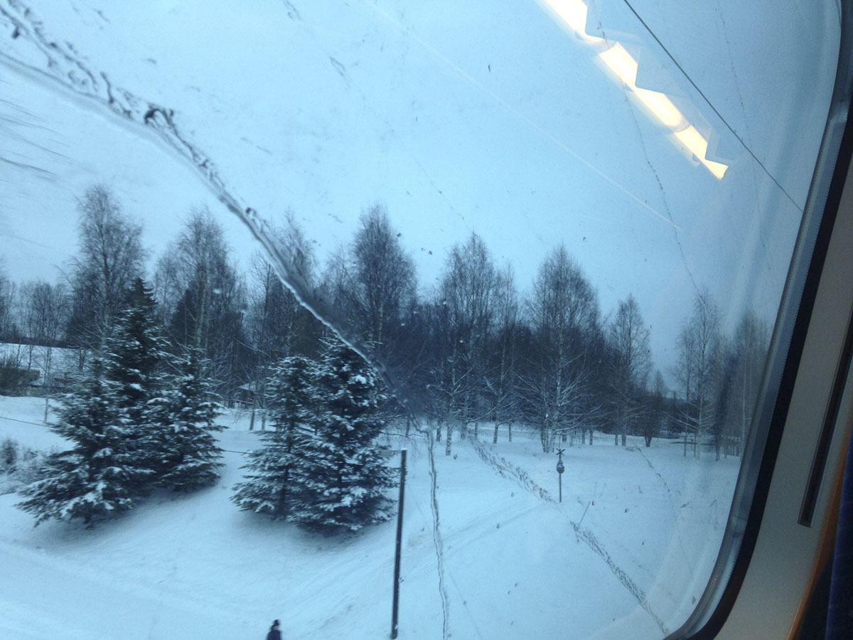 winter train europe window
