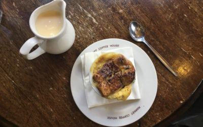 london food tour bread and butter pudding